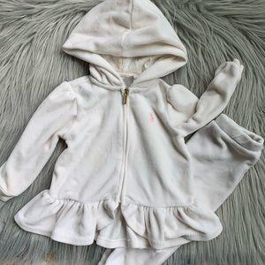 Ralph Lauren Infant Baby Girls Cream Track Suit